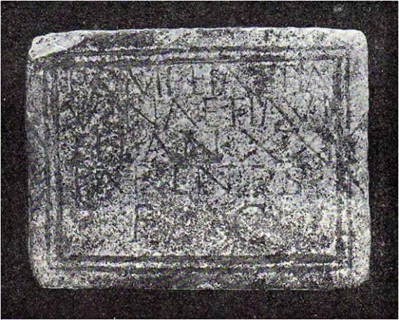 Lápida San Blas Fita